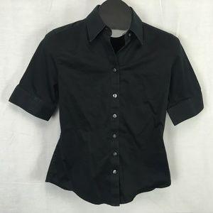 Banana Republic Button Front Shirt Size 6 Black